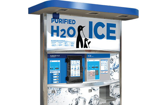 The inline merchant is perfect for getting started in the ice vending business
